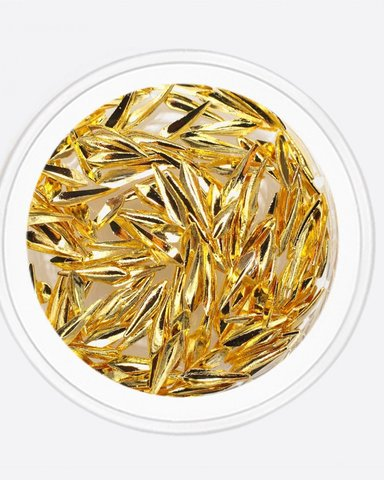 ARTEX Капля полая золото 1х5 мм
