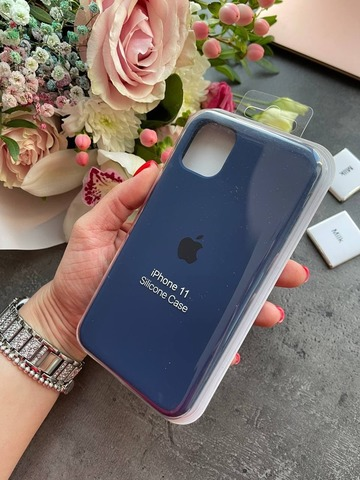 Чехол iPhone XS Silicone Case Full /deep navy/