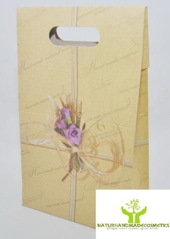 NATURAL COSMETICS Коробка подарочная с ручками 15*8, h=25 см