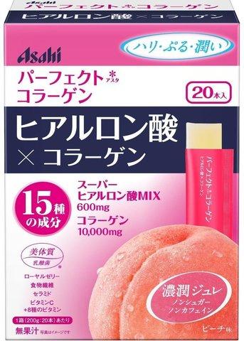 Asahi Perfect Asta коллаген с гиалоурановой кислотой  (Персик)