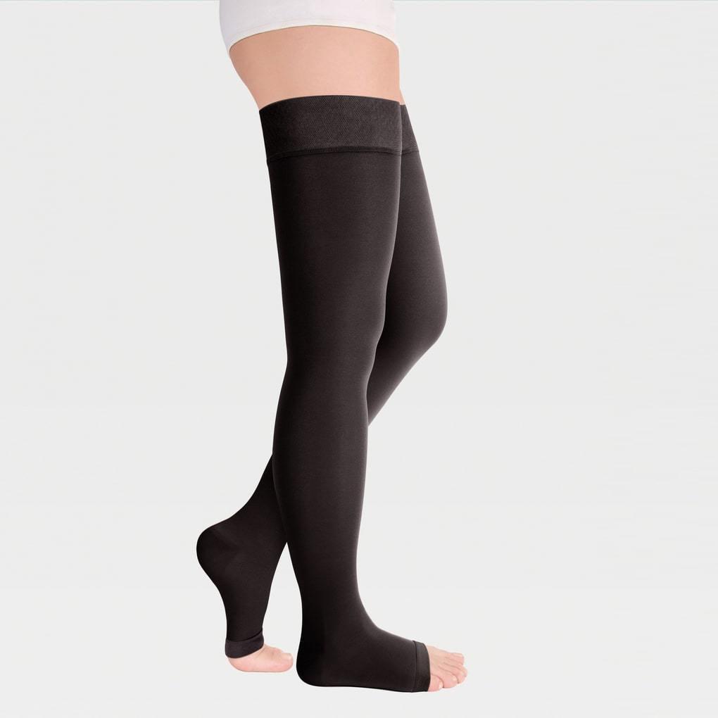 Чулки компрессионные luomma idealista (2 компр.) арт.id-310w long (плотные с открытым носком), черный