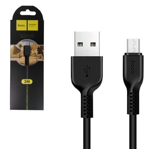 Кабель USB Type-C Hoco X20 3м Quick Charge, 99-ти жильный, черный