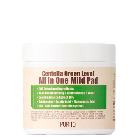 PURITO Пады PURITO Centella Green Level All In One Mild Pad