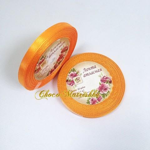 Атласная лента 0,6 см - Оранжевая