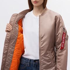 Куртка Alpha Industries MA-1 Long W Mauve (Розовый)