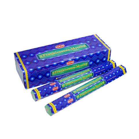 Палочки ароматические благовония HEM Ладан Мирра Frankincense Myrrh 20 шт