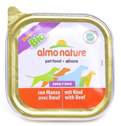 Консервы (ламистер) Almo Nature Daily Menu Bio - Pate Beef