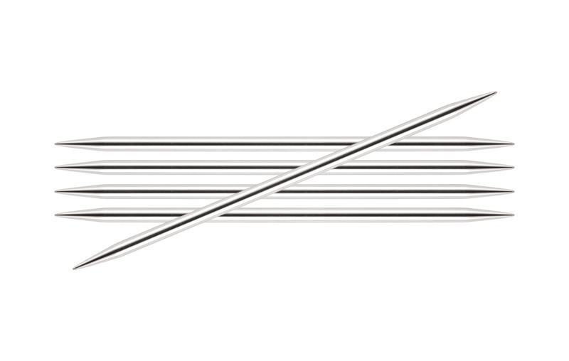 Спицы KnitPro Nova Metal чулочные 3,5 мм/20 см 10107