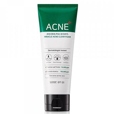 Some By Mi AHA-BHA-PHA 30Days miracle acne clear foam