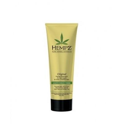 Hempz Hair Care: Шампунь Оригинальный сильной степени увлажнения для поврежденных и окрашенных волос (Original Herbal Shampoo For Damaged & Color Treated Hair), 265мл/1л
