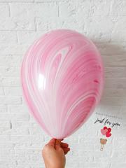 Мраморные шары розовые