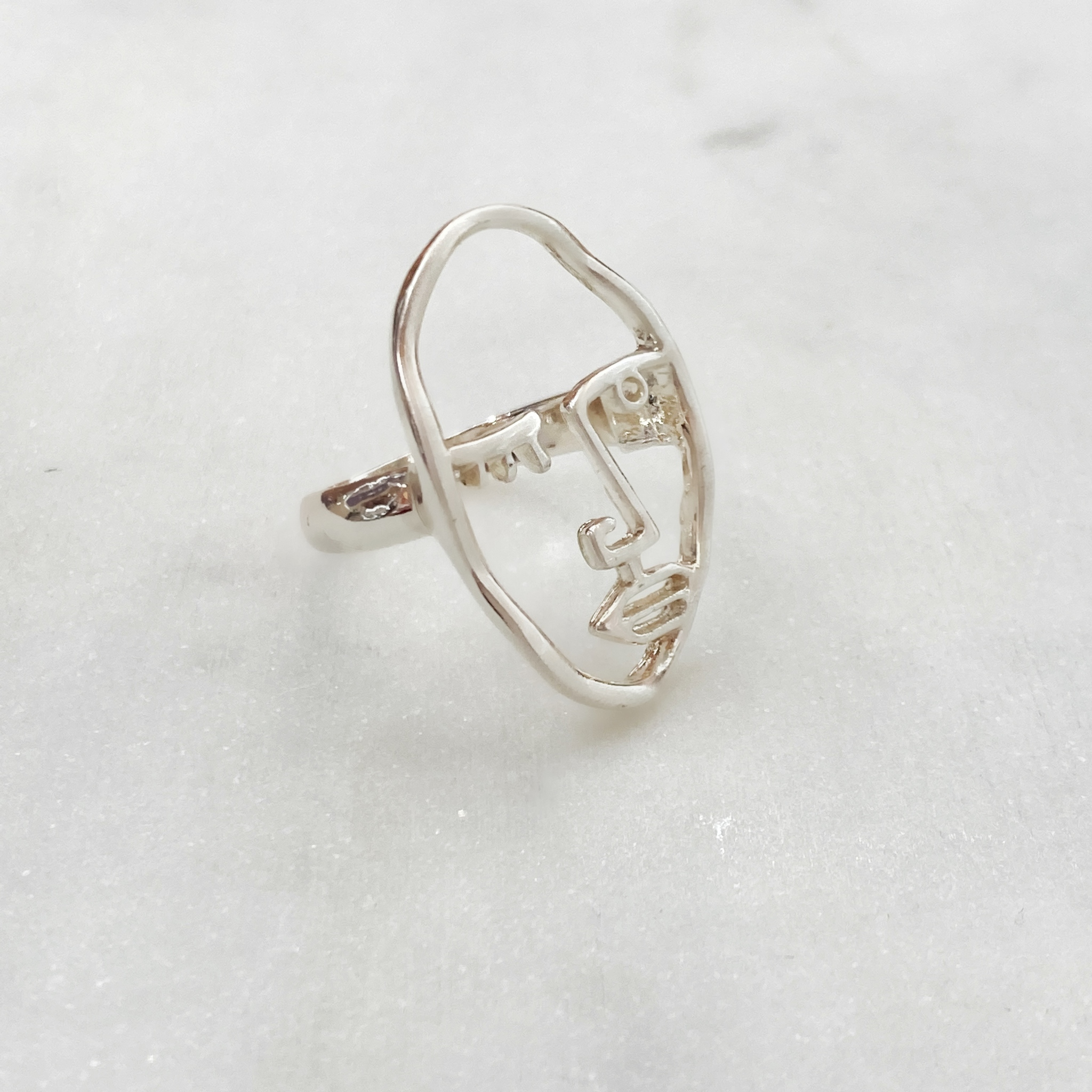 Кольцо Vi Лицо Контур муж серебряный