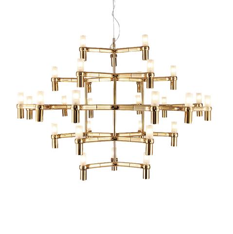 Подвесной светильник копия Crown Major by Nemo (золотой, 30 плафонов)