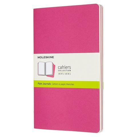 Блокнот Moleskine CAHIER JOURNAL CH018D17 Large 130х210мм обложка картон 80стр. нелинованный розовый неон (3шт)