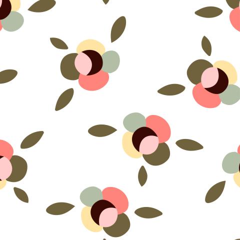 Милый паттерн с простыми минималистичными цветами