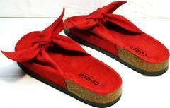 Легкие шлепанцы с ортопедической подошвой женские Comer SAR-15 Red.