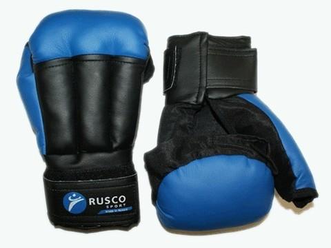 Перчатки для рукопашного боя RUSCOsport, к/з,  синие 6 Oz (с-6) (Спр) (Перчатки для рукопашного боя RUSCOsport, к з,  синие. 10 Oz  с-10 спр)