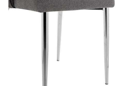Стул кухонный, обеденный, для гостиной, металлический Benza grey fabric 56*56*92 Хромированный металл каркас /Серый