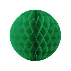 Бумажный Шар-соты 30 см Зеленый