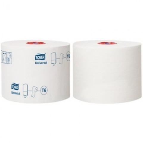 Бумага туалетная в рулонах Tork Mid-size Universal T6 1-слойная 27 рулонов по 135 метров (артикул производителя 127540)