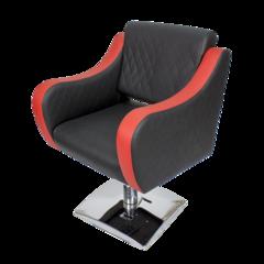 Парикмахерское кресло МД-24 гидравлика хром, квадрат хром