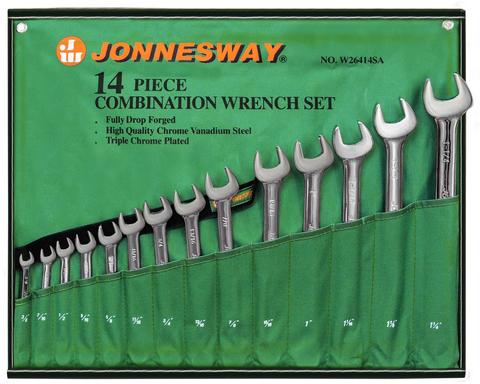 W26414S Набор ключей гаечных комбинированных дюймовых в сумке 3/8
