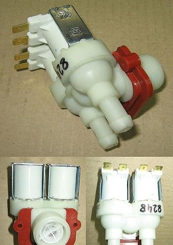 Клапан электромагнитный для стиральной машины - 2W x 90* D12