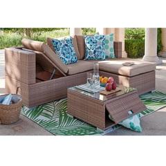 Комплект мебели с диваном-шезлонгом под ротанг Patio Lunch