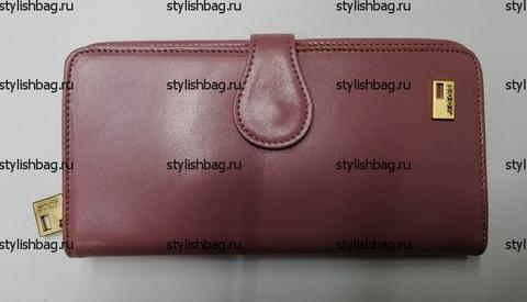 Розовый женский кошелек из кожи JCCS j-1032