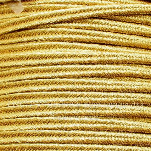Сутаж, 4х1 мм, цвет - темное золото, примерно 1 м