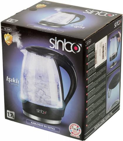 Чайник электрический Sinbo (1,7 литра) 2200 Вт, прозрачный