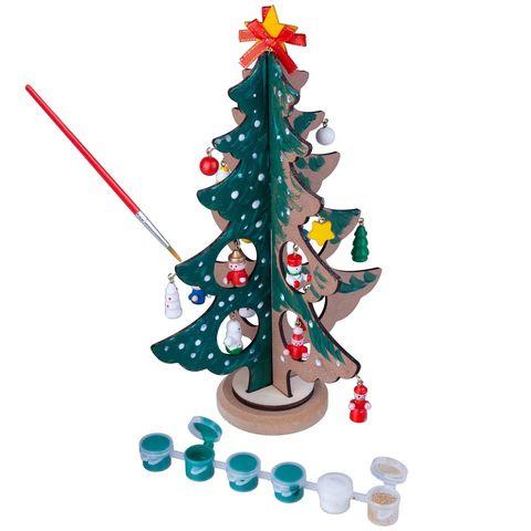 """Набор для творчества BONDIBON """"Новогодняя ёлочка-раскраска с игрушками"""""""