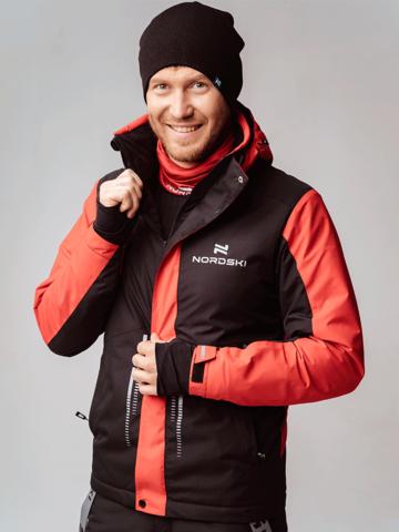 Горнолыжная куртка Nordski Extreme black/red мужская