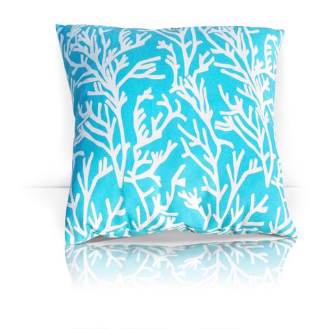 Подушка декоративная Кораллы голубой уличная коллекция