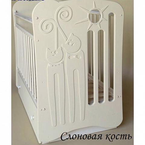 Кроватка детская Ля-Мур маятник поперечный с ящиком