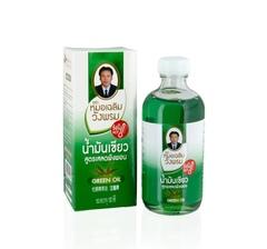 Зеленое массажное масло (разогревающее),Wangprom