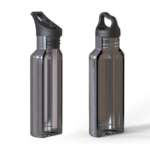 Детская термос-фляга TEMPflask™ Cow 0.35л фиолетовая