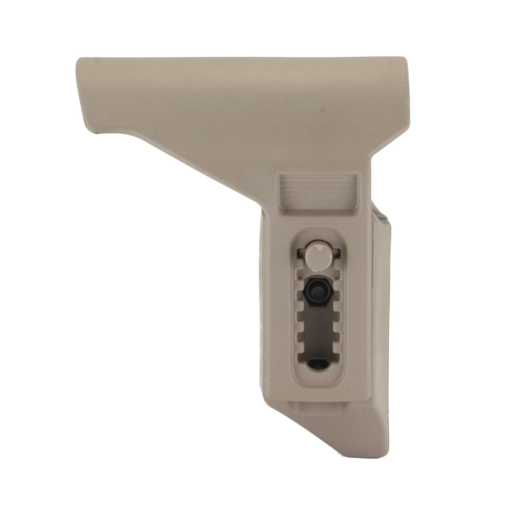 Короткий подщечник для AR для приклада TBS Compact, DLG Tactical - песочный цвет