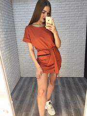 Платье-туника трикотажное недорого