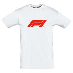 Футболка с принтом Формула-1 (Гонки/ F1/ Formula 1) белая 009