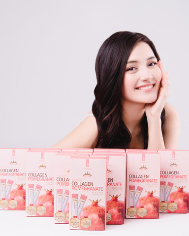 K-Beauty Коллагеновое желе в стиках с Гранатом Collagen Pomegranate Jelly Sticks, 20g*10EA