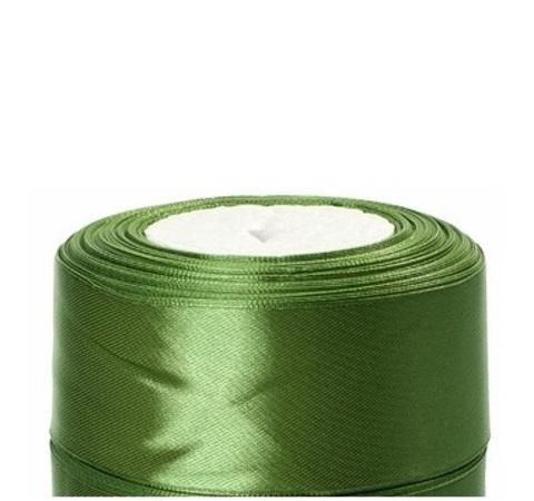 Лента атласная (размер:40мм х 25 ярдов) Цвет:зеленый мох