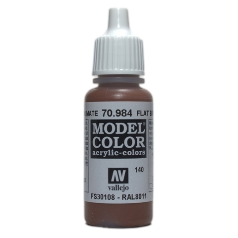 Model Color Flat Brown 17 ml.