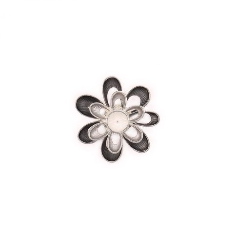 Брошь Цветок XZ0573.3 BW/S