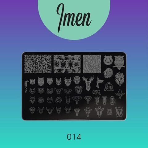 Пластина Imen для стемпинга #014