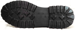 Модные туфли на тракторной подошве женские Marani magli M-237-06-18 Black.
