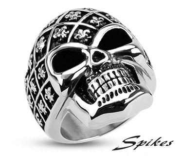 R-H4341 Мужской перстень «Череп» («Spikes»)