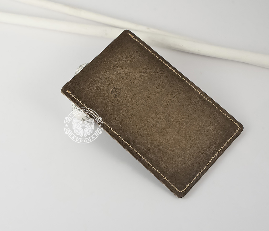 BY07-02-03 Футляр для карточек «Право Доступа» из натуральной кожи фото 02