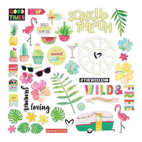 Высечки Hello Sunshine Ephemera Cardstock Die-Cuts