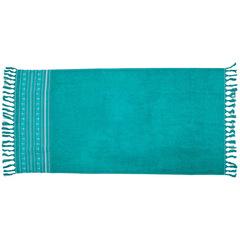 Santorini beach towel / aqua